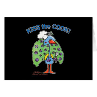Kiss the Cook! Greeting Card