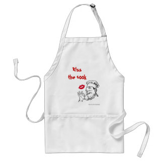 Kiss the cook. Chef father dad's Adult Apron