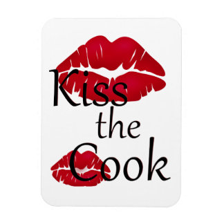Kiss the Cook Chef Photo Magnet