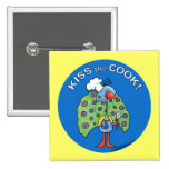 Kiss the Cook! circle 2 Inch Square Button