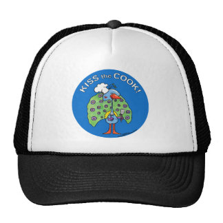 Kiss the Cook! circle Trucker Hat