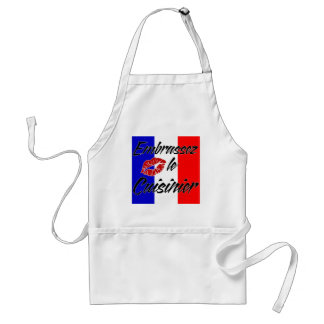 Kiss The Cook (French) Adult Apron