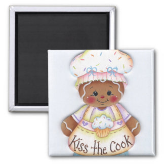 Kiss the Cook Gingerbread Chef Magnet