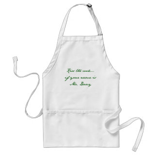 Kiss the cook… if your name is Mr. Darcy Adult Apron