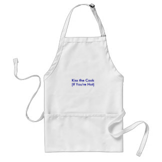 Kiss the Cook, (If You're Hot) Adult Apron