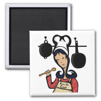 Kiss the Cook Illustrated Magnet