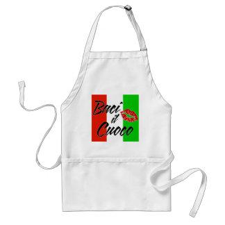 Kiss The Cook (Italian) Adult Apron