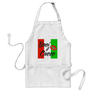 Kiss The Cook (Italian) Adult Apron
