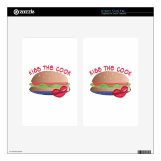 Kiss The Cook Kindle Fire Skin