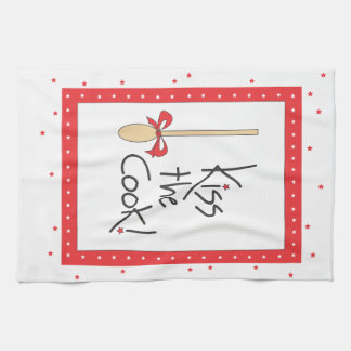 Kiss the Cook! kitchen towel