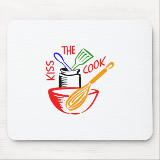 KISS THE COOK MOUSE PAD