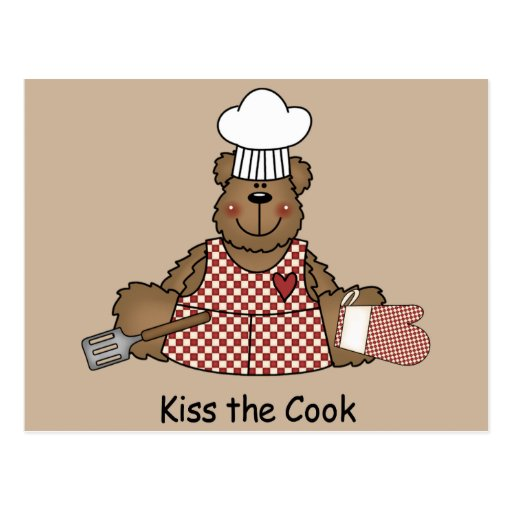 Kiss the Cook Post Card