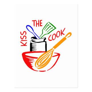 KISS THE COOK POSTCARD