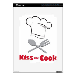 Kiss The Cook Decals For iPad 3