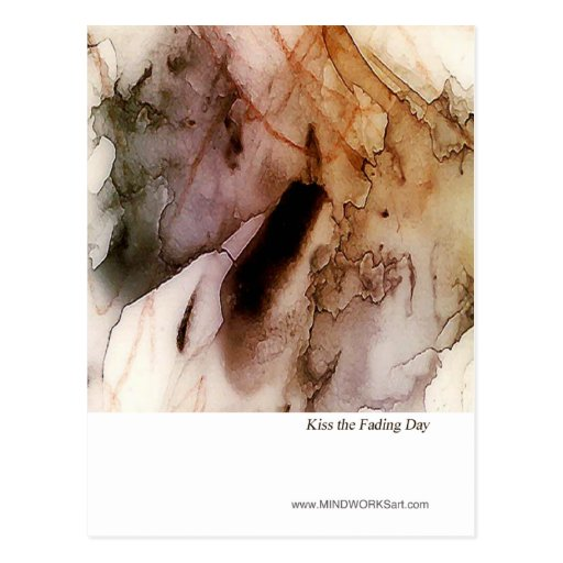 Kiss the Fading Day Postcard