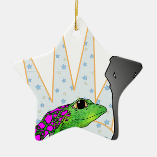 Kiss the Frog Ceramic Ornament