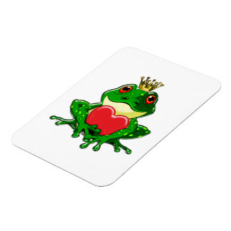 Kiss the Frog Prince Rectangular Photo Magnet