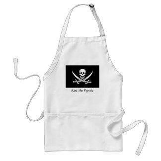 Kiss the Pyrate Apron- Calico Jack Adult Apron