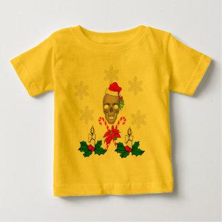 Kiss The Santa Skull Baby T-Shirt