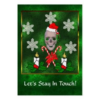 Kiss The Santa Skull Large Business Card