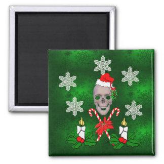 Kiss The Santa Skull Magnet