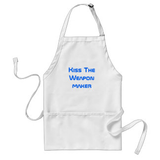 Kiss The Weapon maker Adult Apron