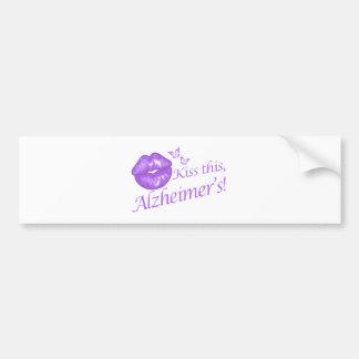 Kiss This Alzheimer's! Bumper Stickers