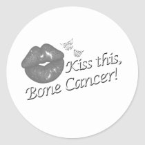 Kiss This Bone Cancer! Classic Round Sticker
