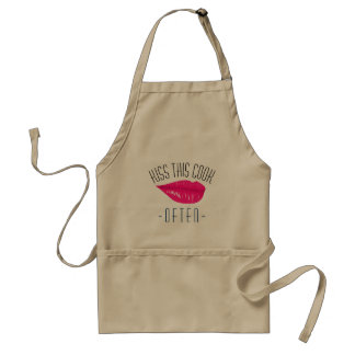 Kiss This Cook Often With Sexy Lips Adult Apron