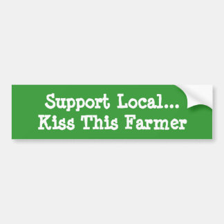 Kiss This Farmer Car Bumper Sticker