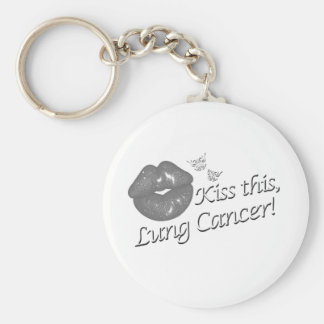 Kiss This Lung Cancer! Keychain