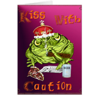 Kiss With Caution Card