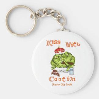 Kiss With Caution Keychain