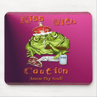 Kiss With Caution Mousepad
