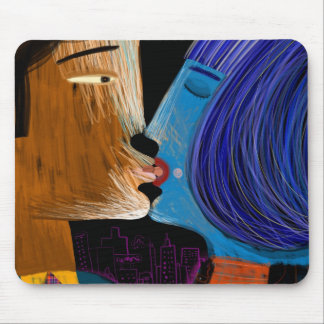 Kiss with language mouse pads
