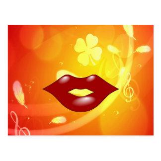 Kiss you love you with  peace joy postcard