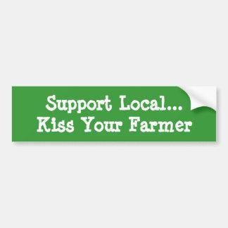 Kiss Your Farmer Bumper Sticker