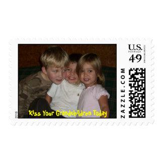Kiss Your Grandchildren Today Postage Stamp