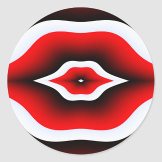 Kissable Me Classic Round Sticker