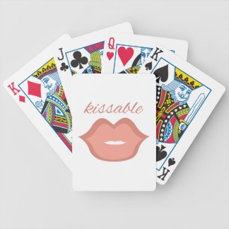 Kissable Bicycle Playing Cards