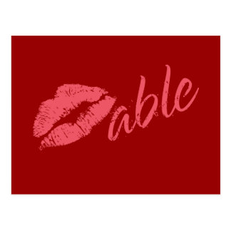 Kissable Valentine Postcard