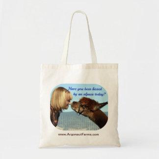 Kissed by an Alpaca Tote Bag