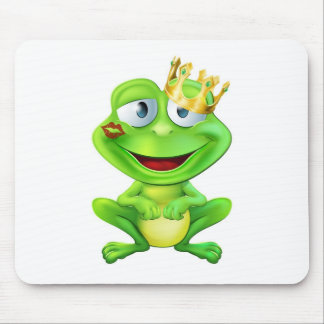Kissed frog prince mouse pads