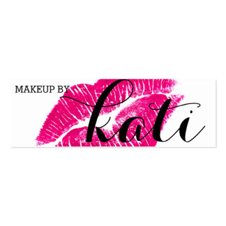 Kissed Makeup Artist Card Double-Sided Mini Business Cards (Pack Of 20)