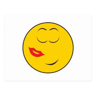 Kissed Smiley Face Post Card