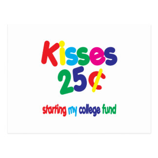 KISSES 25 Cents ... College Fund Postcard