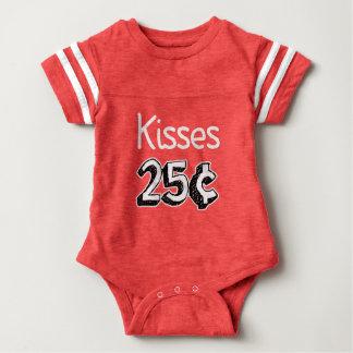 Kisses 25 cents funny baby boy shirt