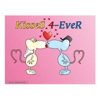 """""""KisseS 4-Ever rats"""" Postcard"""