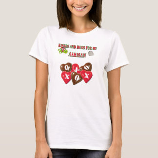 Kisses And Hugs For My Airman Ladies Shirt
