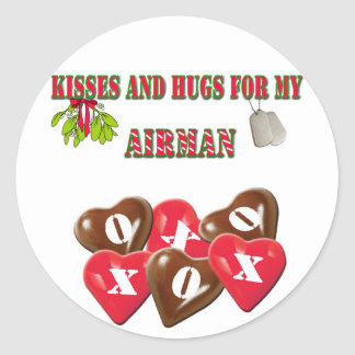 Kisses And Hugs For My Airman Stickers